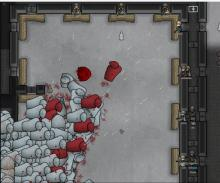 A massive herd of man-hunter muffalo charging into a fortified position.