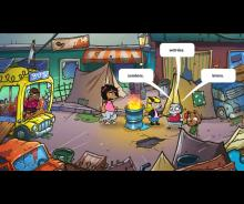 Cartoon style animal horror game,