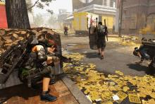 Screenshot of The Division 2 with an agent using a shield.