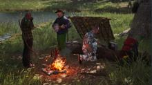 Warm yourself up with a fire and some sweet banjo music in Scum.