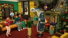 Sims can spot Father Winter by their fireplace at 8PM on Winterfest!