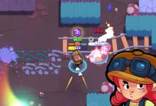 Jessie's bullets inflict so much damage there's smoke!