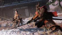 Sekiro in battle
