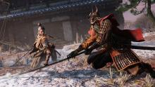 Sekiro fighting one of the many foes in the game