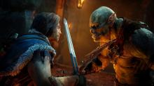 Talion comes face-to-face with a uruk