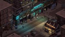 a street in the beautiful shadowrun universe