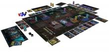 Board set up of Shadowrun: Sprawl Ops.