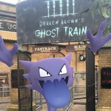 The game's AR camera feature allows you to take pictures of Pokemon in fun, real life places!