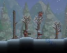 Goinhg hunting in the snow biome