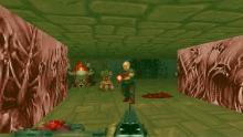 This is an example of the many rooms filled with demons in the original Doom