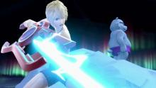When Shulk swings his adaptable sword, it's safe to say his enemies will say goodnight
