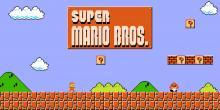 Edited tittle screen of Super Mario Bros.