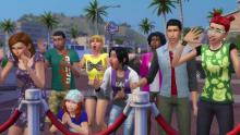 Sims go wild when they see a celebrity.
