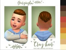 Bring an air of sophistication to even your youngest Sims with this classy high-and-tight hairdo.