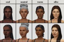Create a complex world with unique Sims around every corner with these new, inclusive skin tones.