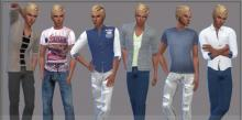 This stylish catalogue lets you dress your male Sims in style and comfortably too!