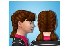 Bring a brand new double-braided style to all of your female Sims, no matter their age.