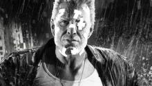 Mickey Rourke is just one of many great actors in the stylish Sin City.