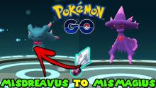 To get the witchy Mismagius, players need 100 Misdreavus candy and a Sinnoh Stone.