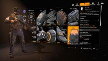 Showing the skill menu for all the skills, including the shield.