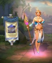 Aphrodite's in-game player model