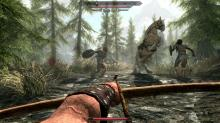 Wielding a bow against unfriendly bandits in Skyrim. What kind of monsters would attack a horse?