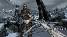 Trek across the wind scarred terrain of Skyrim and meet new people face to face