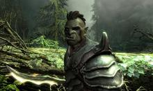 An orc armed with a very fitting Orchish sword.