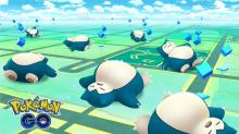 This was a rare chance to find Snorlax sleeping in the wild.