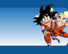 Krillin and Kid Goku ready to take on any villain together