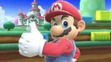 Mario taunting in Smash Ultimate