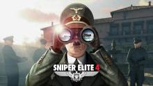 A Sniper Elite 4 wallpaper featuring Hitler looking through binoculars.