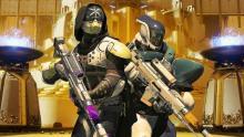 A Titan backs up his hunter buddy.