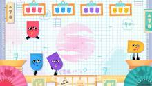 Snipperclips four player gameplay