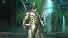 Genjin in his chrome skin