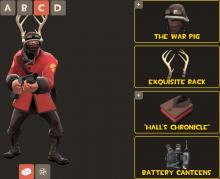 The soldier from Team Fortress 2