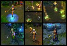 Soraka's skills, including her ultimate, Wish, displayed in-game.