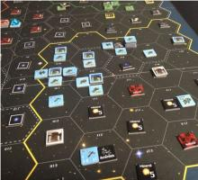 Board set up for Space Empire