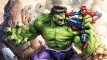 Spiderman is able to exchange blows with Hulk and not only survive, but deal a little damage as well.