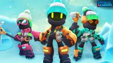 So, are these things robots? I don't think robots need winter wear. Their eyes glow, though, so who knows what's going on there.