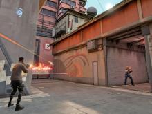 Phoenix battles his enemies after throwing his Hot Hands.