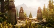 The first three standing stones you encounter on the way to Riverwood.