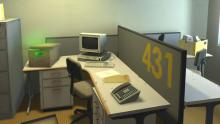 The office is oddly empty...