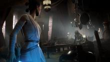 Rey defends Maz kanata's Castle