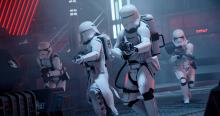 The First Order flametrooper is ready to protect Star Killer Base