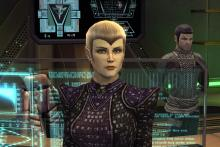 Classic characters and races clash in Star Trek Online.