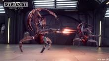 Droidekas roll into battle, twin blasters at the ready.