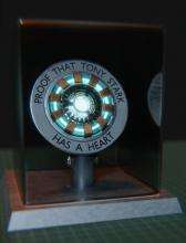 The original arc reactor Tony used as his heart.