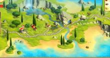 In the 12 Trials of Hercules, you'll progress through more and more puzzles.