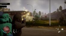 Headshotting a poison cloud zombie